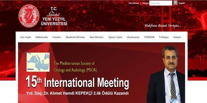 Yrd. Doç. Dr. Ahmet Hamdi Kepekçi 2.lik Ödülü Kazandı